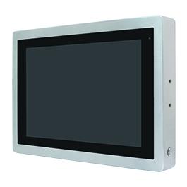 """ViTAM-116PH Защищенный TFT LCD монитор, 15,6"""", защита IP66/IP69K, VGA/HDMI коннекторы M12, яркость 1000нит, проекционно-емкостной сенсор, интерфейс USB(M12), питание 9-36В DC, 0-50C, адаптер питания."""