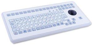 TKS-088c-TB38-KGEH-PS/2 Промышленная IP65 настольная клавиатура, 88 клавиш, трекбол 38мм, PS/2