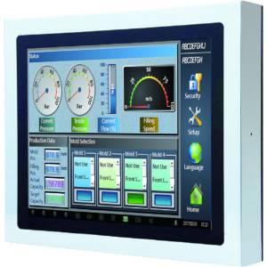 """TPM-3610PW-B6A1 Промышленный LCD монитор 10"""" 16:9 (1024 x 800), 500нит, нерж.сталь 316, IP66/69K со всех сторон, пр.-емкостный сенсорный экран, 1x VGA M12, 1x USB M12, HDMI (IP67 connector), 12..24VDC M12, -20..60C"""