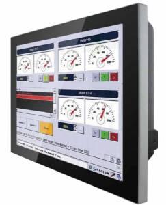 """R15L600-PCC3-POE 15"""" TFT LCD монитор, 1024x768, проекционно-емкостный сенсорный экран, 250 нит, VGA+HDMI, вход питания PoE, IP65 по передней панели"""