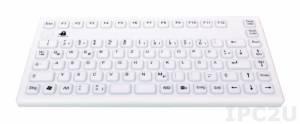 TKG-086-IP68-WHITE-USB Настольная силиконовая IP68 клавиатура, 86 клавиш, USB, белая