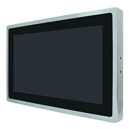"""ViTAM-124G Защищенный TFT LCD монитор, 23,8"""" FullHD, защита IP66/IP69K, VGA/HDMI коннекторы M12, яркость 350нит, без сенсора, защитное стекло, питание 9-36В DC, 0-50C, адаптер питания."""