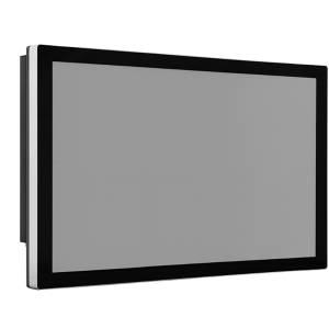 """TDM-P215W 21.5"""" промышленный монитор, проекционно-емкостный сенсорный экран, IP65 по передней панели, VGA/DVI/HDMI, 1920*1080, 250нит, -10...60C, 9...36VDC-in, адаптер питания"""