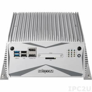"NISE-3640VR Встраиваемый компьютер с Intel Core i7-3517UE 1.7ГГц, 4Гб DDR3, VGA, DVI-D, 2xDisplay Port, 4xGbE LAN, 4xUSB, 6xCOM, Audio, CFast слот, отсек для 2x3.5"" SATA HDD, 24В DC"