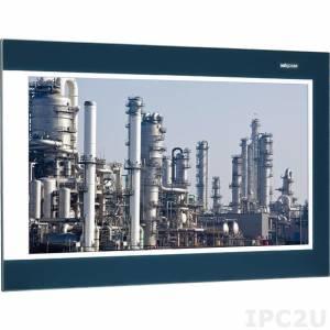 """IPPD-1600P-C 15.6"""" 16:9 WXGA LED промышленный монитор, 300 нит, емкостный сенсорный экран, VGA, VGA, DVI-D, DisplayPort, питание 12-24В DC, IP66"""