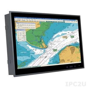 """S24M-AD/PC Промышленный 24"""" FHD монитор для морского использования, 1920x1080, яркость 300 нит, 2xVGA, 2xDVI, 1xVGA Out, BNC, питание AC и DC"""