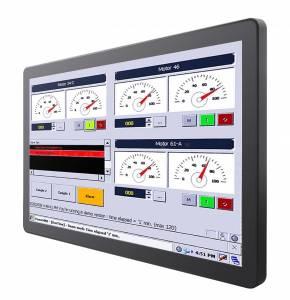 """W24L100-GCA2 Промышленный 23,8"""" монитор с IP65 по передней панели,1920x1080, пр.емкостной сенсорный экран, VGA, HDMI, USB для тачскрина, питание 12В DC, с адаптером питания"""