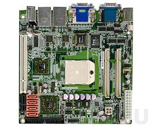 KINO-690S1-R11 Процессорная плата Mini-ITX AMD Socket S1 Turion 64, Turion 64 x2, Mobile Semprom с VGA, DVI, 2xGb LAN, 4xSATAII-300, Audio, слоты 1xPCI, 1xPCI Express x1