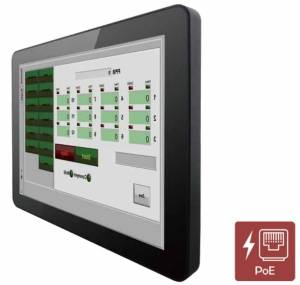 """R10L100-PCT2-POE 10.4"""" TFT LCD монитор, 1024x768, проекционно-емкостный сенсорный экран, 350 нит, VGA+HDMI, вход питания PoE, IP65 по передней панели"""